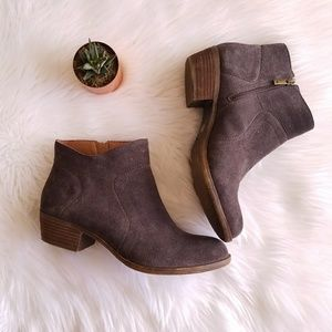 Lucky Brand Grey Suede leather Brolley zip Booties